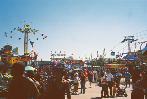 fair, fun, people, summer, theme park