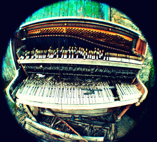 fish-eye, music, piano, wide angle