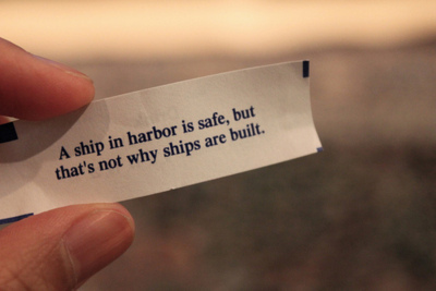 fortune cookie, harbor, life, quote, ship