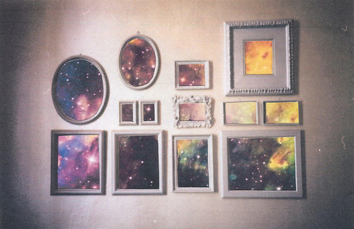 frames, galaxy, picture frames, pretty, room