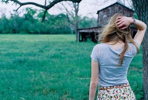 girl, grass, hair, indie, photography