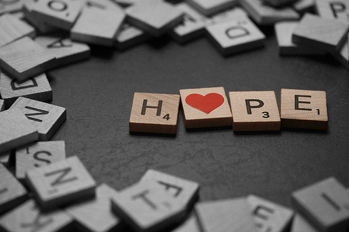 heart, hope, letters, separate with comma, text hope