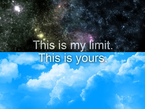 limit, sky, typography, universe