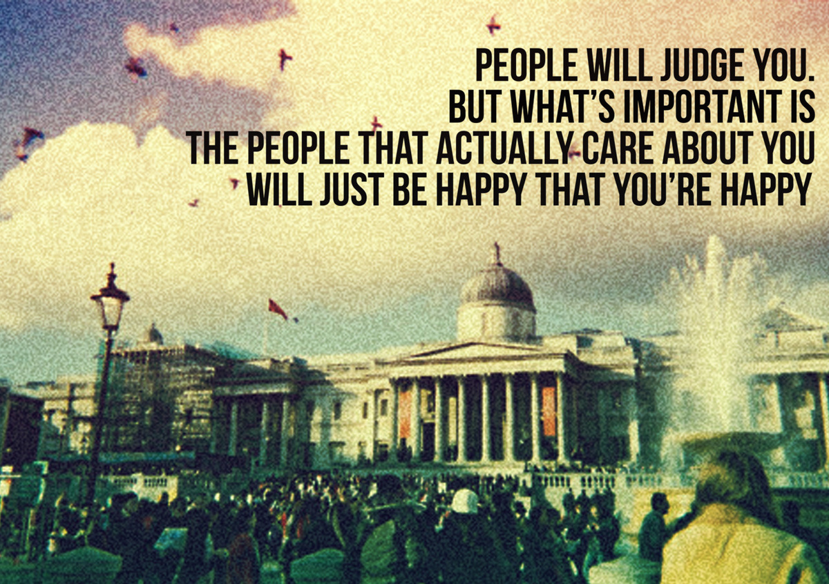 advice, happy, judge, people, quote
