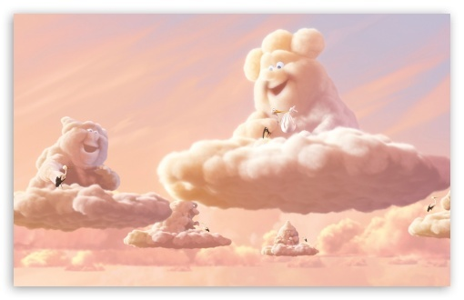 art, cartoon, cloud, cloudy, color