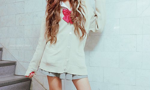 asian, bow, cute, hair, japanese, jfashion, kawaii, kfashion, pretty, sweet, ulzzang, uniform