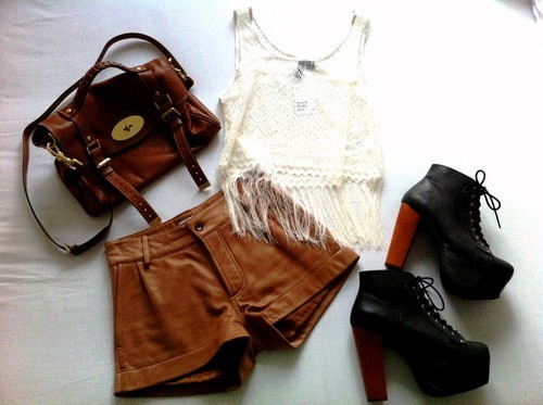 bag, balenciaga, fashion, heels, jeffrey campbell, knitted, leather, love, mmiaas, outfit, shoes, shorts, style, top, vest