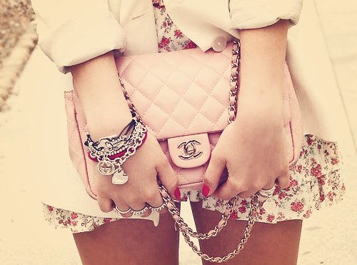 bag, chanel, cute, fashion, flowers