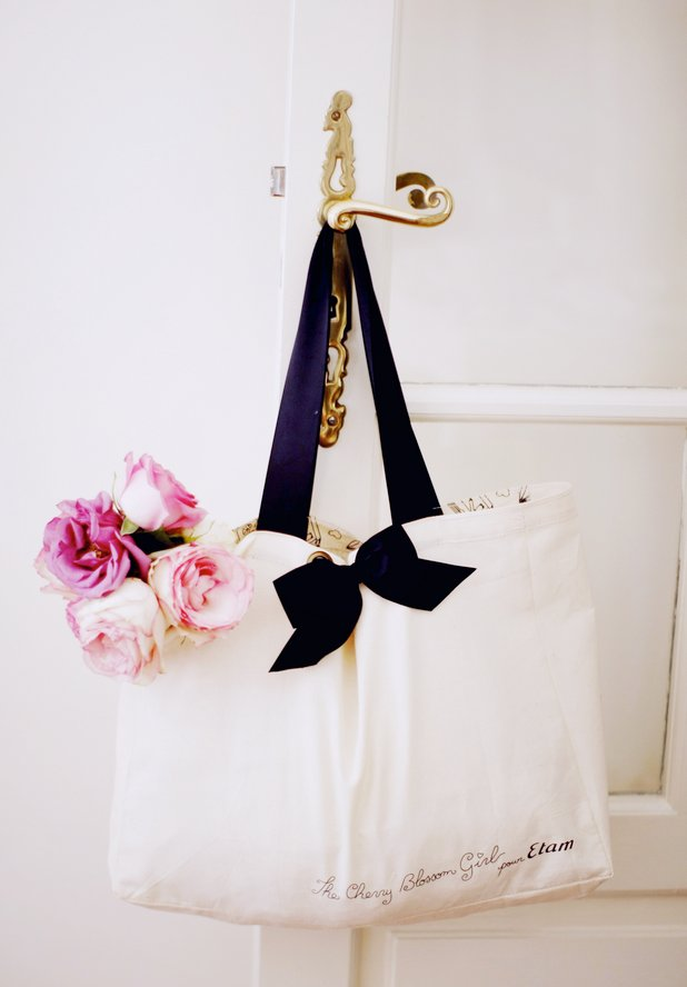 bag, door, feminine, flowers, lingerie