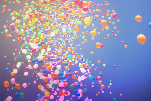 balloons, colorful, sky