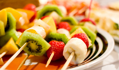 banana, food, fruit, kiwi, strawberry