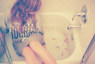 bath, girl, photography, tub, water
