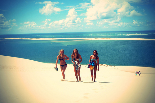 beach, fashion, friends, friendship, girls