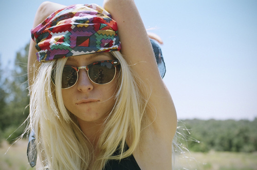 beautiful, blond, blonde, cute, girl, glasses, hippie, nature, pretty, safari, summer, woman