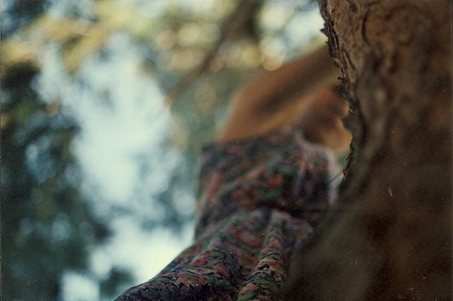 beautiful, blurred, close, close-up, dress, girl, nature, tree