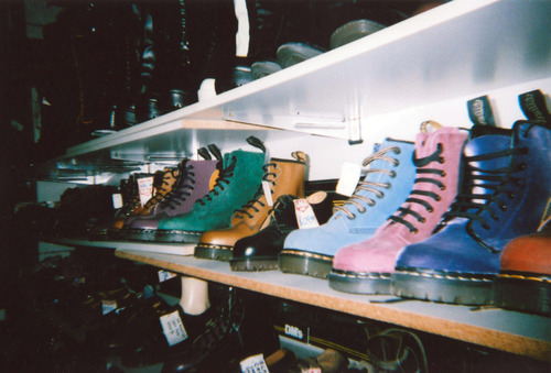 beautiful, boots, boy, colors, couple, cute, disposable, disposable camera, doc martins, fashion, girl, girls, lady gaga, martens, photography, shoes, sneakers, store, vintage, vintage fashion, vintage photography