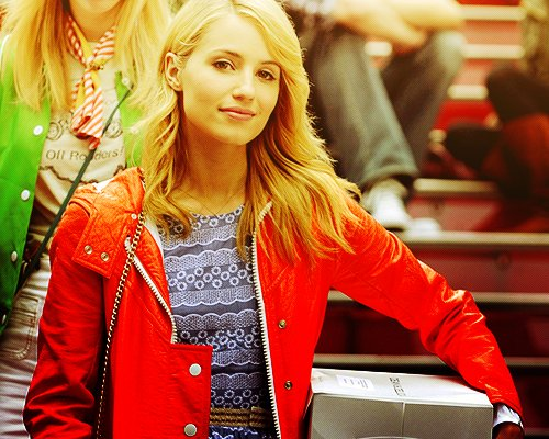 beautiful, colourful, dianna agron, glee, glee cast