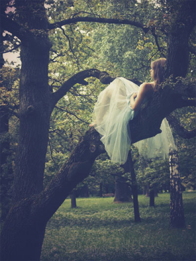 beautiful, cute, dress, fabric, fashion, forest, girl, grass, lady, outside, pretty, tree, trees, white, woman