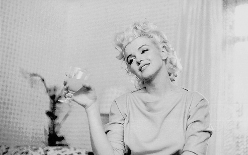 beauty, black and white, cute, cute girl, marilyn monroe