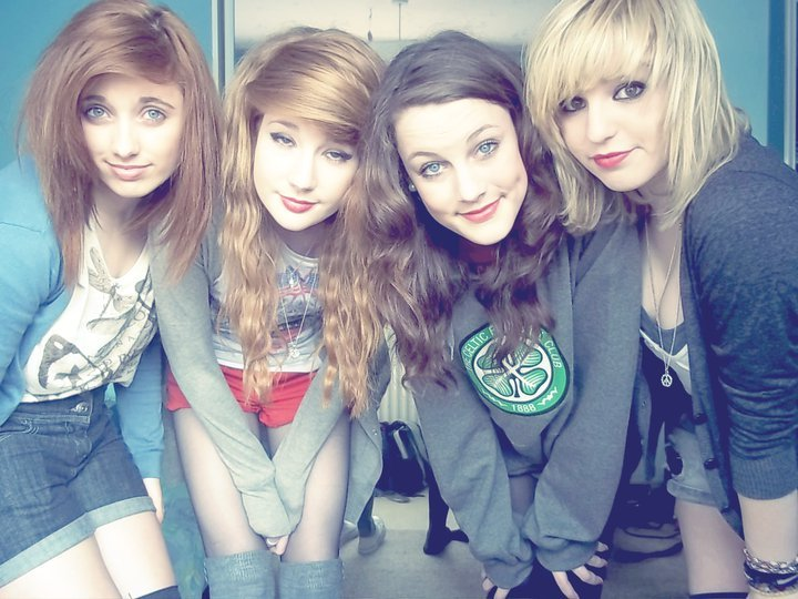 best friends, celtic, fashion, girls , hair