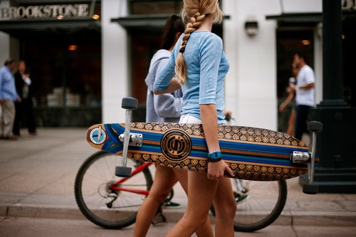 bike, girl, longboard, photography, skateboard