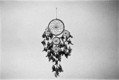 black and white, dream catcher, photography, pretty, vintage
