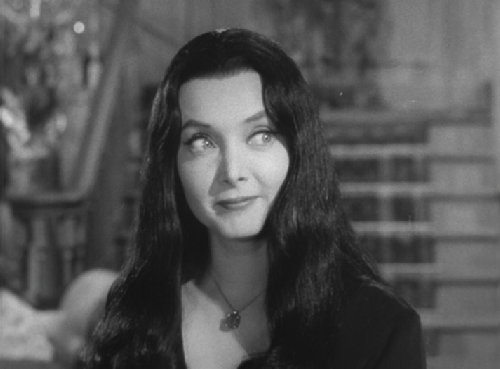 black and white, morticia addams, the addams family, vintage