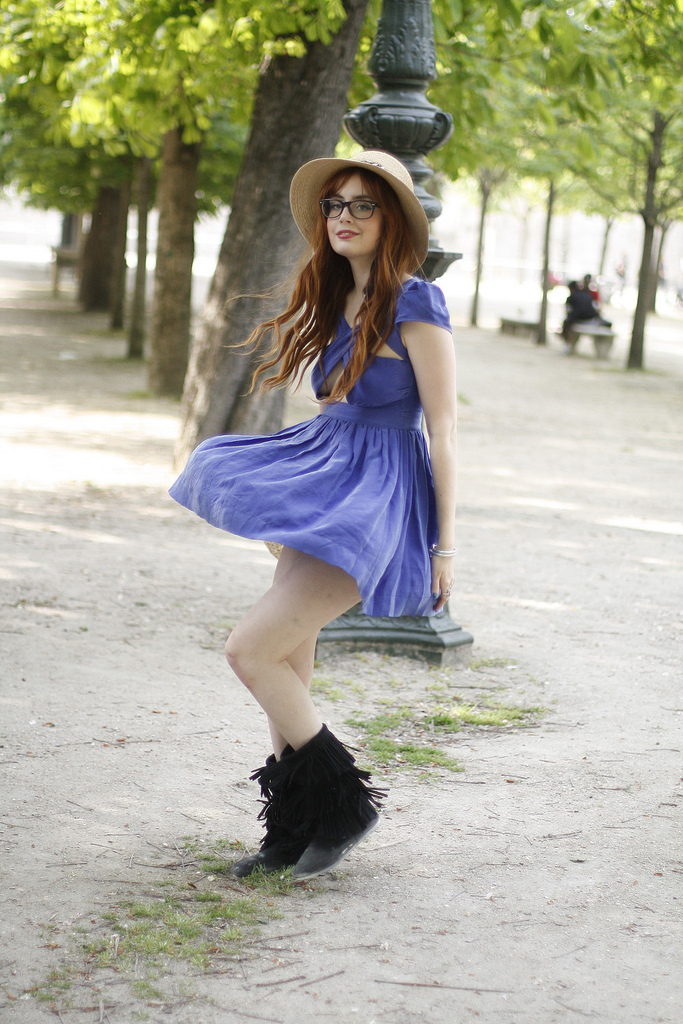 blue, cute, dress, ebel, happy