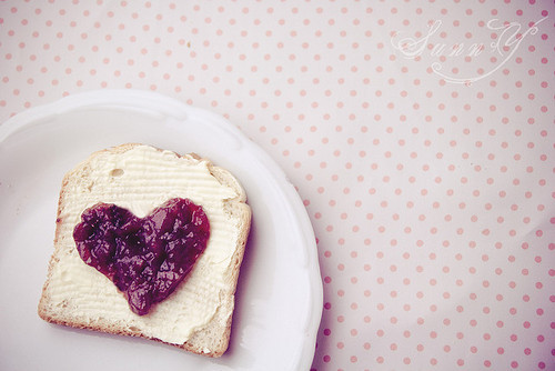 bread, cute, food, heart, photography