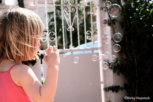 bubbles, childhood, children, color, cute, kirby hopstock, photography