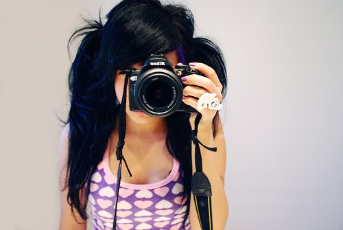 camera, cute, dslr, girl, girly, pretty