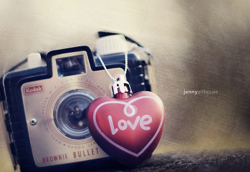 camera, heart, kodak, love, photo, red