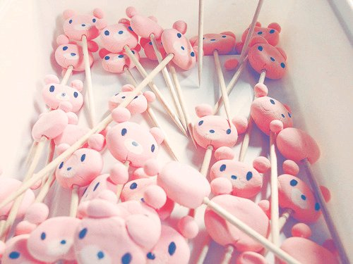 candies, cute, food, gloomy, gloomy bear, photography, pink, yumm
