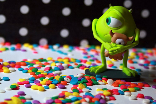 candies, cute, food, monsters inc, photography, sugaredtoons, yumm