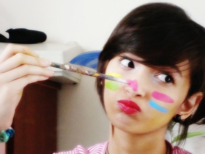 carolina alvarez, colorful, face, girl, happy