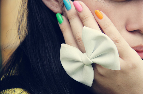 colorful, colors, colours, cool, cute, fashion, girl, girls, hand, nails, pretty, sweetheart