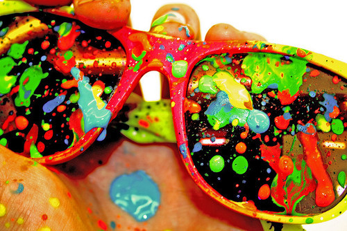 colors, fashion, love, paint, rayban