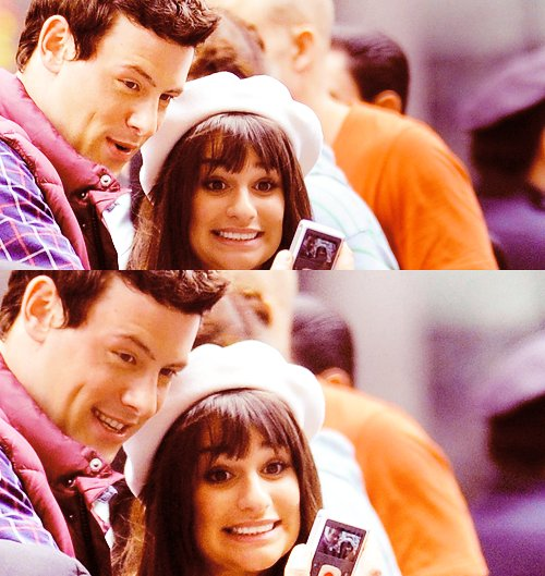 cory monteith, couple, cute, finn hudson, glee
