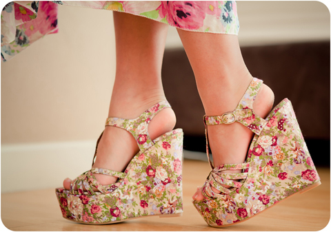 cute, fashion, flower, foki, heels