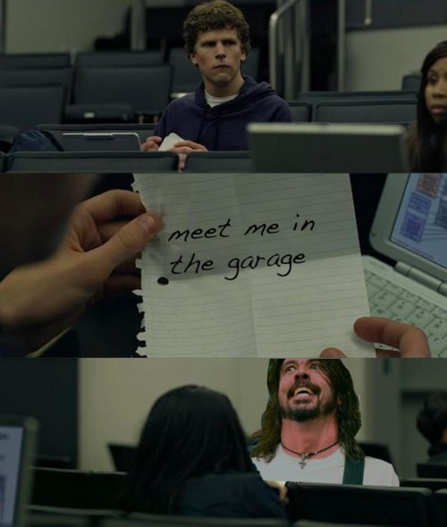 dave grohl, film, funny, garage, social network