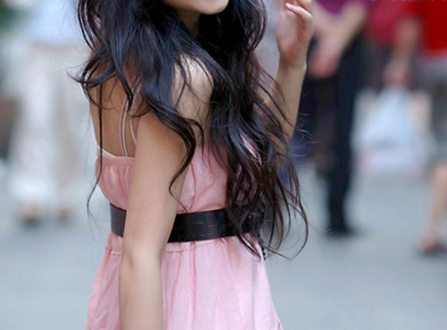 dress, fashion, girl, hair, hair long