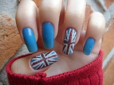 fashion, flag, london, long nails, nail art