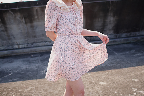 fashion, floral, pastel, pink, pretty, vintage