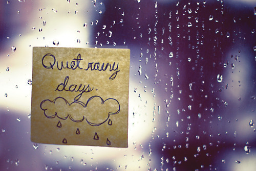 fashion, girl, hair, quiet, quote, rain, rainy, window