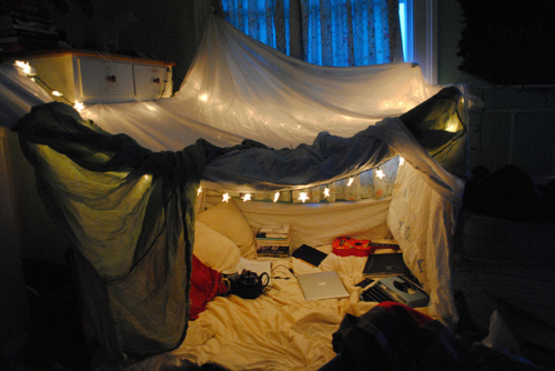 fort, lights, mac, tent