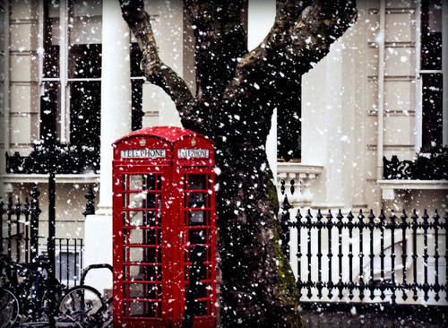 london, places, snow