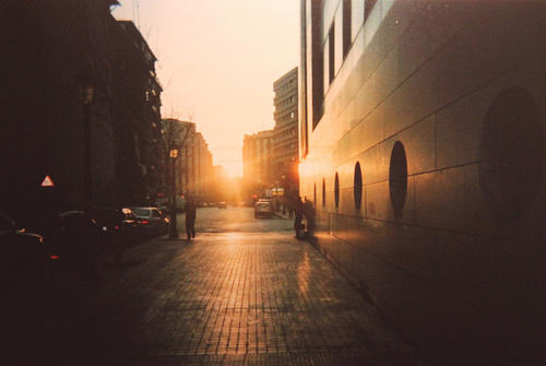 photograph, photography, street, sun, sunlight, sunset, sunshine