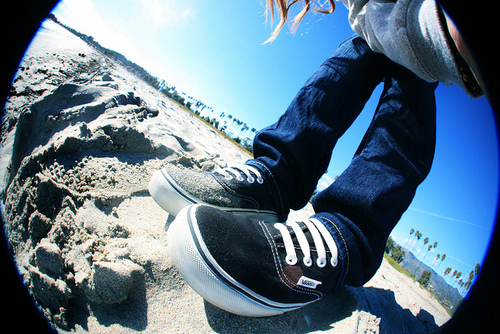 adorable, beach, cute, fisheye, guy, perfect, photography, vans, vans off the wall