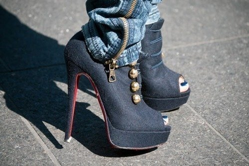 ankle boot, black, fashion, girl, heel