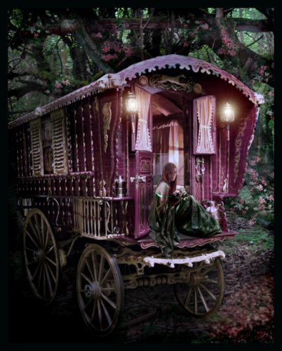 beautiful, beauty, candle light, candles, enchant, folk, folklore, forest, gypsy, light, magic, old, pink, purple, retro